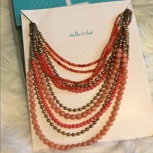 Stella and Dot Coral/Melon Palomino Necklace